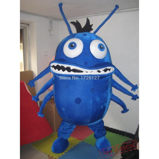 Blue Bacterium Germ Mascot Virus Monster Costume