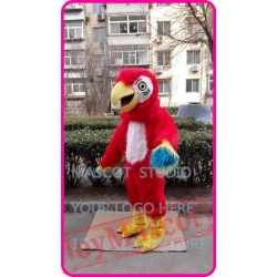 Plush Red Parrot Mascot Costume