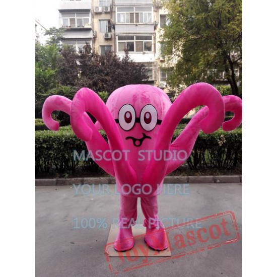 Pink Octopus Mascot Costume