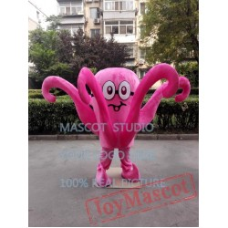 Pink Octopus Mascot Costume