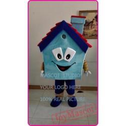 Mascot Blue House Mascot Costume