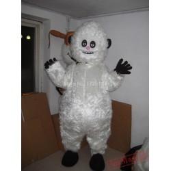 White Snowman Snow Monster Mascot Cartoon Costume