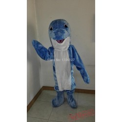Mascot Blue Dolphin Mascot Costume Cartoon Cosplay Made Costumes