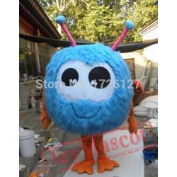 Mascot Blue Jojo Fur Ball Mascot Costume