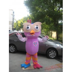 Mascot Pink Owl Mascot Costume