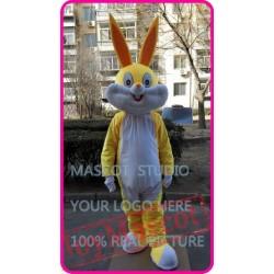 Mascot Easter Yellow Rabbit Bunny Mascot Costume