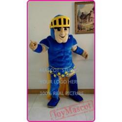 Mascot Blue Knight Mascot Spartan Trojan Cotume Anime