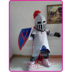 Mascot Blue Knight Mascot Spartan Trojan Costume Cartoon