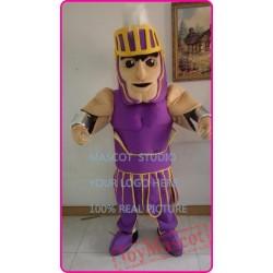 Mascot Purple Knight Mascot Spartan Trojan Cotume Anime