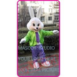Mascot Mr Easter Bunny Mascot Costume Cartoon Rabbit Cosplay