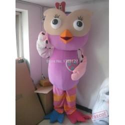 Mascot Pink Owl Hoot Mascot Costume