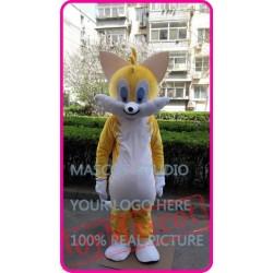 Mascot Yellow Cat Mascot Costume Cartoon
