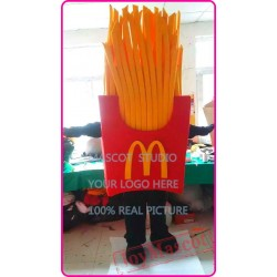 Mascot French Fries Chips Mascot Costume Cartoon Anime