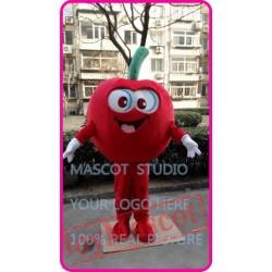 Mascot Red Apple Mascot Costume