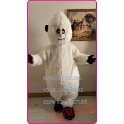 Mascot Plush White Snowman Snow Monster Mascot Costume Winter Holiday Ice World