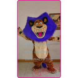 Mascot Purple Lion Mascot Cotume Anime