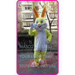 Mascot Cute Easter Yellow Rabbit Bunny Mascot Costume Cartoon