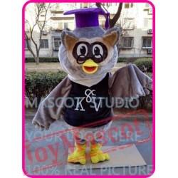 Mascot Plush Doctor Owl Mascot Costume