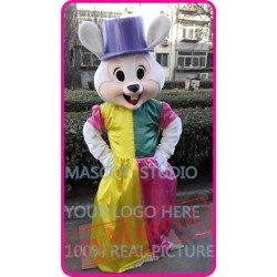 Mascot Mrs Easter Bunny Rabbit Mascot Costume