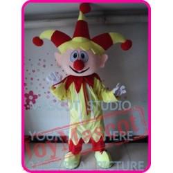 Christmas Clown Mascot Costume