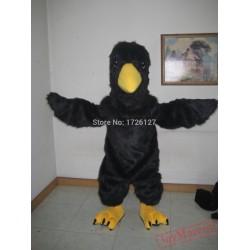 Mascot Black Raven Mascot Costume