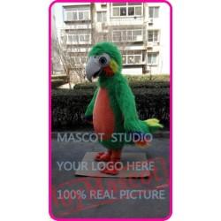 Mascot Green Plush Parrot Mascot Costume