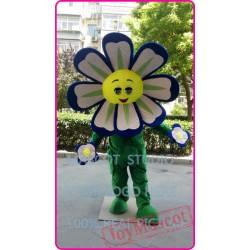 Mascot Blue Flower Sunflower Mascot Costume