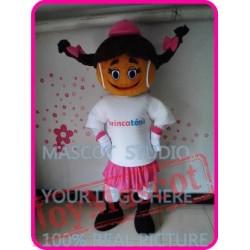 Mascot Tennis Girl Mascot Costume