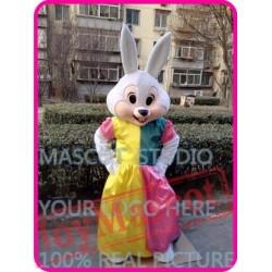 Mascot Mrs Easter Bunny Mascot Costume Cute Rabbit