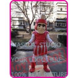 Mascot Red Knight Mascot Spartan Trojan Costume