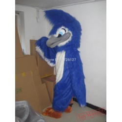 Mascot Fierce Blue Jay Eagle Mascot Costume
