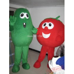 Mascot Cucumber Tomato Mascot Vegetable Costume