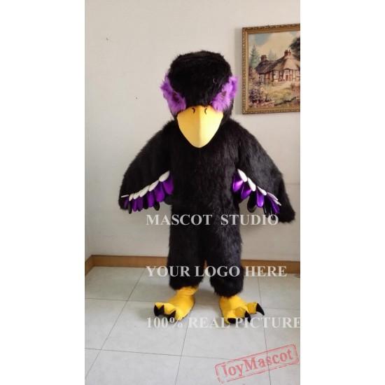 Black Eagle Mascot Hawk Falcon Mascot Costume