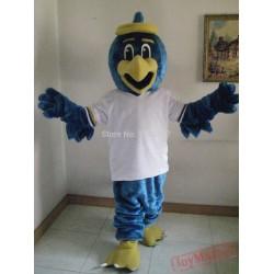 Mascot Blue Eagle Hawk Falcon Mascot Costume
