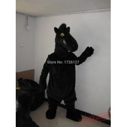 Mascot Black Horse Mascot Costume