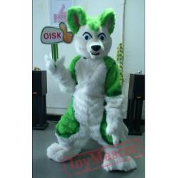 Green Husky Fursuit Dog Fox Mascot Costume Animal Costumes