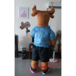 Bull Glasses Mascot Costume Celebration Carnival Outfit