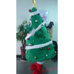 Christmas Tree Mascot Costume Celebration Carnival Outfit