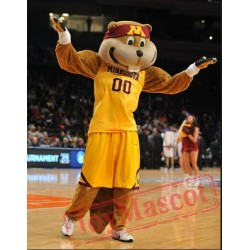 Goldy The Gopher Mascot Costume Celebration Carnival Outfit