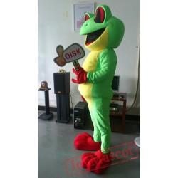 Green Tree Frog Mascot Costume Animal Costumes