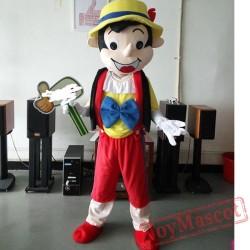 Pinocchio Mascot Costume Celebration Carnival Outfit