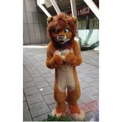 Brown Fursuit Wolf Mascot Costume