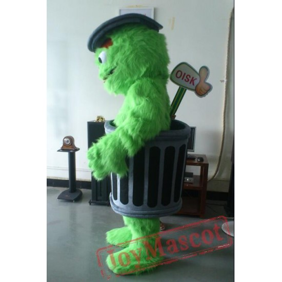 Oscar The Grouch Mascot Costume Celebration Carnival Outfit
