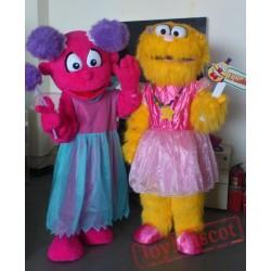 Sesame Street Zoe Abby Cadabby Mascot Costume Celebration Carnival Outfit