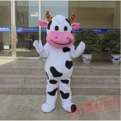Hot Farm Dairy Cow Mascot Costume Cartoon
