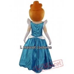 Cinderella Mascot Costume Cartoon Character