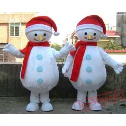 Christmas Snowman Mascot Costume Christmas Performance Mascot Costume