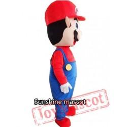Adult Super Mario Mascot Cartoon Mascot Costume