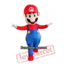 Adult Super Mario Mascot Cartoon Mascot Costume