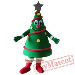 Green Christmas Tree Mascot Costume Christmas Carnival Performance Apparel